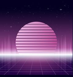 80s retro design futurism sci-fi background vector