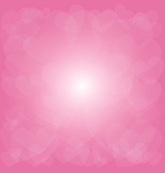 abstract blurred pink tone hearts background vector image