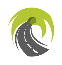 Abstract road turn vector