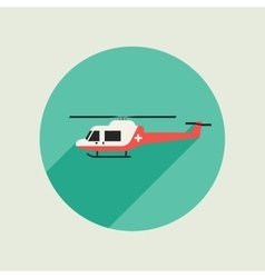 Ambulance helicopter vector
