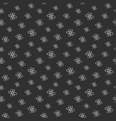 Atom symbol seamless pattern hand drawn vector