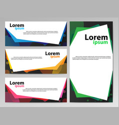 banners paper2 vector image