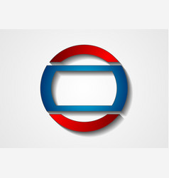 blue and red abstract corporate logo design vector image