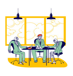 Board meeting and negotiation concept business vector