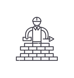 building line icon concept building linear vector image