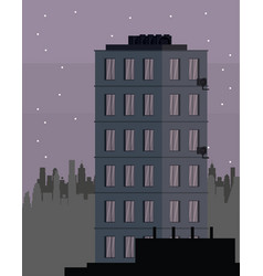 buildings cityscape at night vector image