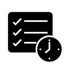 Checklist deadline vector