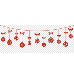christmas balls hanging background vector image