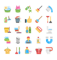 Cleaning and maid icon pack vector