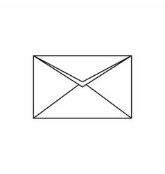 Closed envelope icon outline style vector image