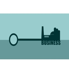 concept of a key of business vector image