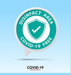covid19 free zone sign symbol vector image