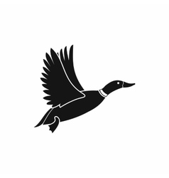 Duck icon simple style vector image