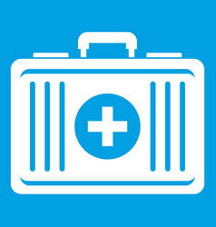 First aid icon white vector