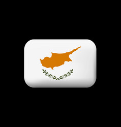 Flag of cyprus matted icon and button vector
