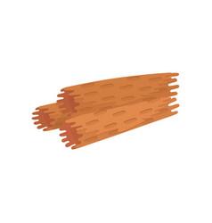 flat icon of freshly baked waffle rolls vector image