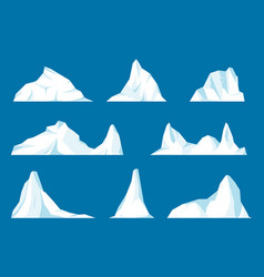 floating iceberg set vector image