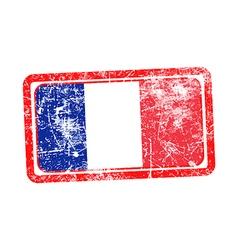france flag red grunge rubber stamp vector image