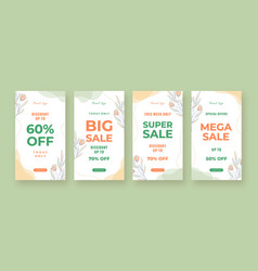 Fresh social media story sales promotion template vector
