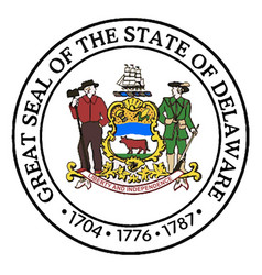 Great seal of delaware vector
