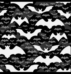 halloween seamless pattern with flying bats vector image