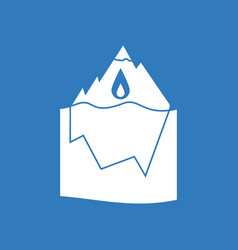 Icon melted ice berg vector