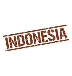 Indonesia brown square stamp vector image