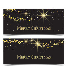 lights on golden background vector image