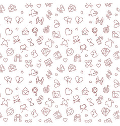 love linear concept seamless pattern vector image