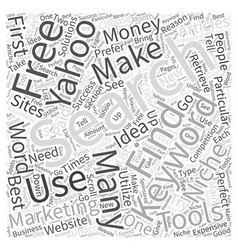 Making money with articles using the yahoo search vector