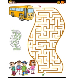 Maze or labyrinth activity for kids vector