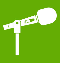 microphone icon green vector image