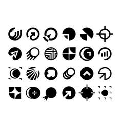 modern professional set logos planet technology vector image