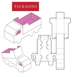Package template transportation conceptpackage vector