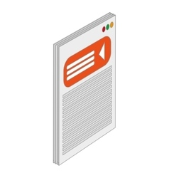 paper document icon vector image