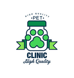 pet clinic high quality logo template design vector image