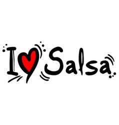 Salsa love vector