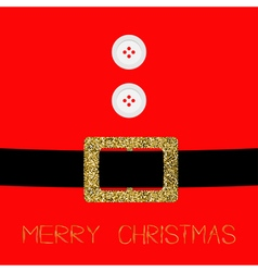 Santa Claus Coat with fur buttons and gold glitter vector image