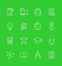 school education learning courses icons set vector image