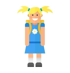 School kid character vector image
