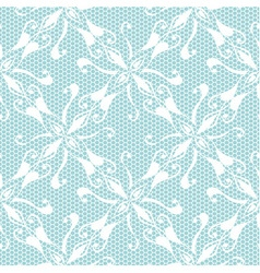Seamless lace pattern on blue background vector