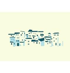 seashore town vector image