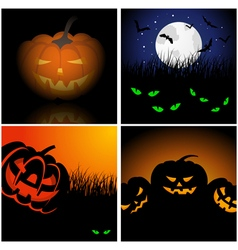 Set of Halloween Greeting Cards vector