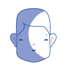 Silhouette man head with face and hairstyle vector