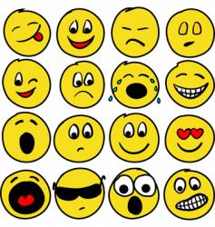 Sixteen smiles vector