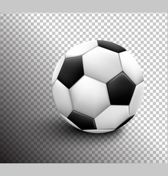 soccer ball isolated on transparent background vector image