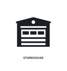 Storehouse isolated icon simple element from real vector