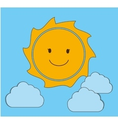 Summer and sun vector image