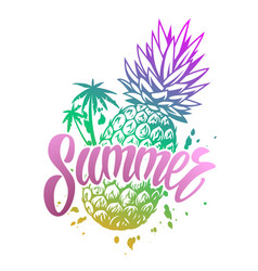 summer colorful vintage emblem vector image
