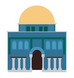 Synagogue building image vector